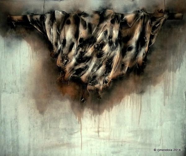 LAMENTATIONS  mixed media on canvas 6'x7'