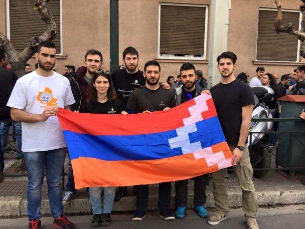 Διαμαρτυρία για την Αζέρικη εισβολή κατά της Αρμενίας στην Πρεσβεία του Αζερμπαϊτζάν