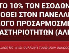 Αντάμωμαν 2018: 10%-Συλλογή τροφίμων μακράς διαρκείας